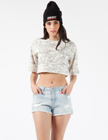 Stolen Girlfriends Club White Totally Wired Crop T-Shirt