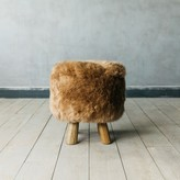 Graham and Green Shawn Sheepskin Stool In Taupe