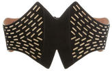 Alaia Laser Cut Wide Waist Belt