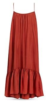 AllSaints Paola Silk Ruffled Dress