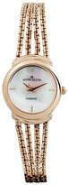 AK Anne Klein Women'S 108726Mprg Rose-Tone Chain Bracelet Watch
