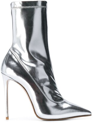 Le Silla Eva mirror effect ankle boot