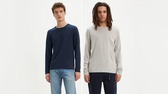 Levi's Longsleeve Slim Fit Crewneck Tee Shirt (2-Pack)