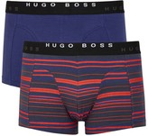 Boss Stretch Cotton Boxer Briefs - Set Of Two