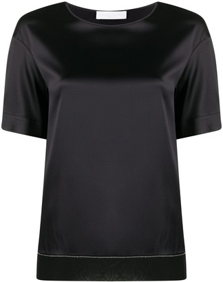 Fabiana Filippi contrast hem silk T-shirt