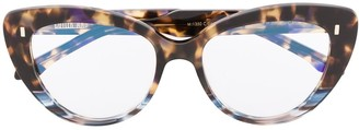 Cutler & Gross Cat Eye Tortoise-Shell Effect Glasses
