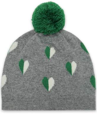Chinti and Parker Pompom-embellished Intarsia Wool And Cashmere-blend Beanie