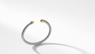 David Yurman Cable Kids Birthstone Bracelet With Citrine And 14K