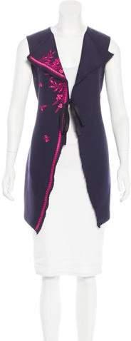 Christian Dior Embroidered Silk-Blend Vest