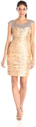 Mikael Aghal Women's Sequin Top Cocktail Dress