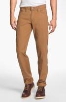 Naked & Famous Denim 'Weird Guy' Slim Tapered Leg Selvedge Jeans (Vintage Brown Khaki)