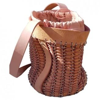 Paco Rabanne Pink Pony-style calfskin Handbags