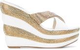 Rene Caovilla platform sandals - women - Cotton/Lamb Skin/Leather/rubber - 35