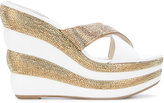 Rene Caovilla platform sandals - women - Lamb Skin/Leather/PVC/rubber - 35