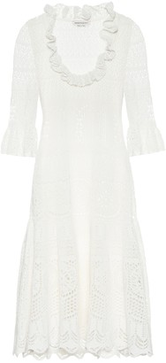 Alexander McQueen Cotton-blend crochet dress