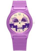 """Kidozooo Boys Girls Scary Skull 1 3/8"""" Diameter Plastic Watch"""
