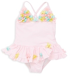 Little Me Girls' 3D Floral Swimsuit - Baby
