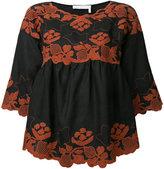 Chloé folk embroidered blouse