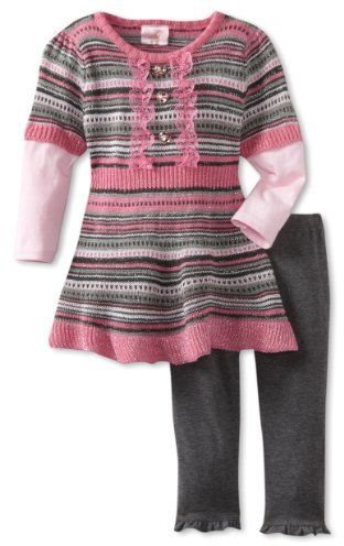 Nannette Baby-Girls Infant 2 Piece Ruffle Bottom Sweater Set