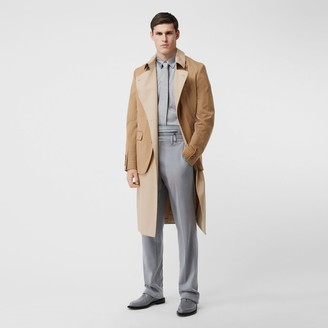 Burberry Blazer Detail Cotton Twill Reconstructed Trench Coat