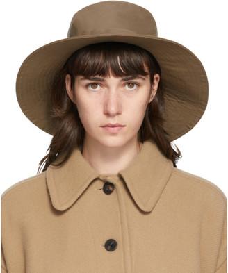 Chloé Brown Drawstring Beach Hat