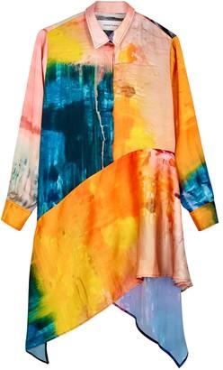 Marques Almeida Printed Satin Shirt Dress