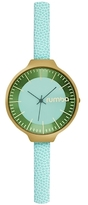 RumbaTime Orchard Leather Mint Dial Watch, 35mm