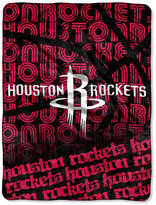 Northwest Company Houston Rockets Micro Raschel Redux Throw Blanket