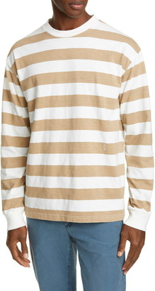 Closed Stripe Long Sleeve T-Shirt