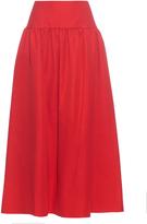 Sonia Rykiel Gathered linen and cotton-blend skirt