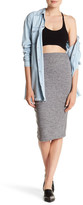 One Teaspoon Ribbed Knit Pencil Skirt