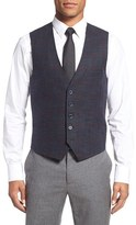 Ted Baker Men's 'Tightlines' Windowpane Wool & Cotton Vest