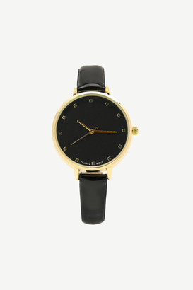 Ardene Patent Faux Leather Analog Watch