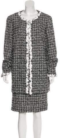 Chanel Embellished Tweed Skirt Suit