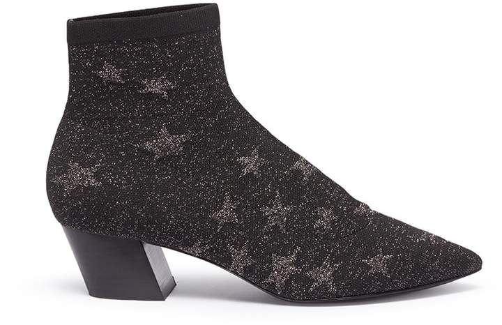 Ash 'Cosmic' star intarsia knit sock ankle boots