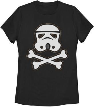 Disney Junior's Star Wars Trooper Skull Patch Missy Crew Tee
