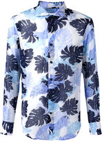 Ermanno Scervino palm print shirt - men - Cotton - 50