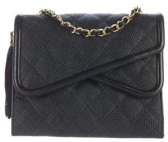 Chanel Straw Flap Bag