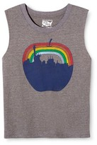 New York Local Pride by Todd Snyder Women's Big Apple Rainbow Skyline Muscle Tank - Heather Grey