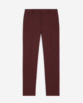 The Kooples Fitted burgundy suit trousers in wool
