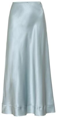 Lee Mathews Stella silk-satin midi skirt