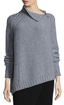 Joseph Chunky Wool Sweater W/ Neck Zipper