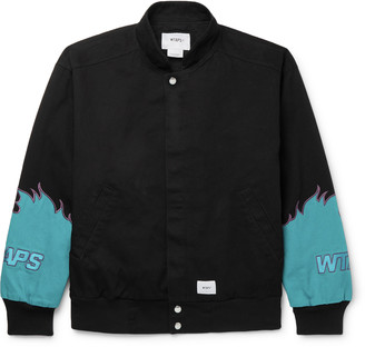 WTAPS Drifters Logo-Appliqued Cotton-Twill Bomber Jacket