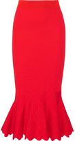 Jonathan Simkhai Textured Stretch-knit Midi Skirt - large
