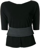 Armani Collezioni stitched belt jumper - women - Polyamide/Viscose - 40