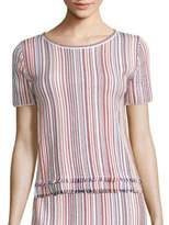 BOSS Fina Striped Knit Top