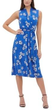 Tommy Hilfiger Jersey Floral Fit & Flare Dress