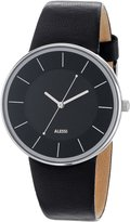 Alessi Men's AL8004 Stainless Steel Automatic Watch with Leather Strap