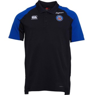 Canterbury of New Zealand Mens Bath Rugby VapoDri Performance Cotton Polo Anthracite