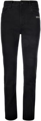 Off-White Black Denim Straight Leg